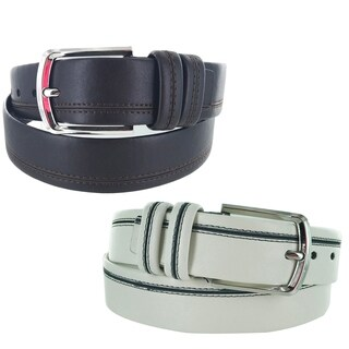 Men's Leather Business Casual Single Prong Buckle Belt A111