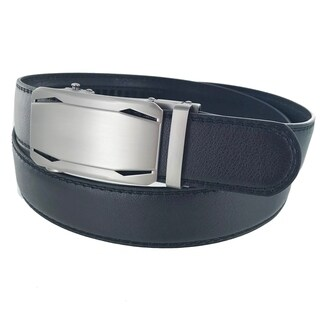 Men's Leather Business Casual Plate Automatic Buckle Belt A703