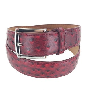 Men's Leather Business Casual Single Prong Buckle Belt A7