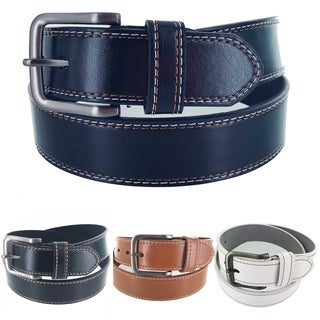 Men's Leather Classic Heritage Business Single Prong Buckle Belt G313 (More options available)