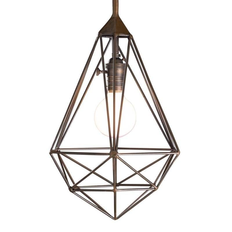 Handmade Cg Sparks Diamond Cage Pendant Light India