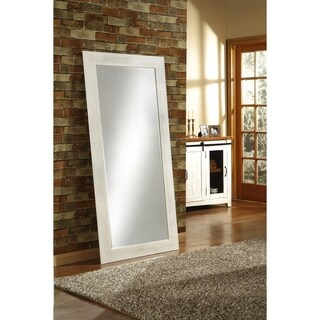 Sandberg Furniture Full Length Leaner Mirror - Antique White