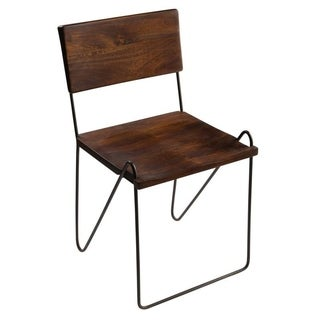 Handmade Marie Iron and Mango Wood Dining Chair, Set of 2 (India)