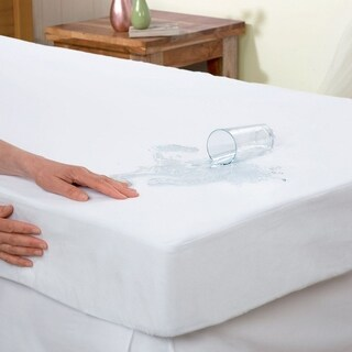 Elegant Comfort Waterproof and Terry-Cotton Fitted Mattress Protector