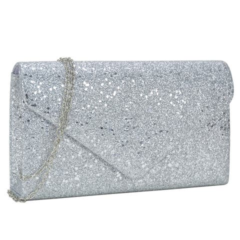 28468fcaaa Buy Silver Clutches & Evening Bags Online at Overstock | Our Best ...