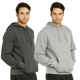 Men'S Waffle Fabric Pullover Hoodie