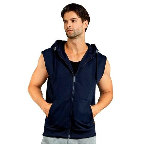 Men'S Zipper Hooded Vest