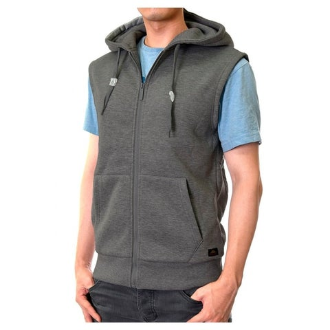 Men'S Zipper Hooded Vest