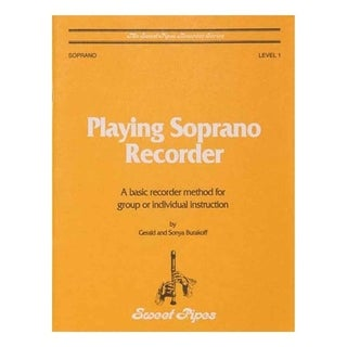 Rhythm Band Sweet Pipes Playing Soprano Recorder Method Book