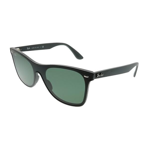 42fdbdde23 Ray-Ban Wayfarer RB 4440N Blaze Wayfarer 601S71 Unisex Matte Black Frame  Green Lens Sunglasses