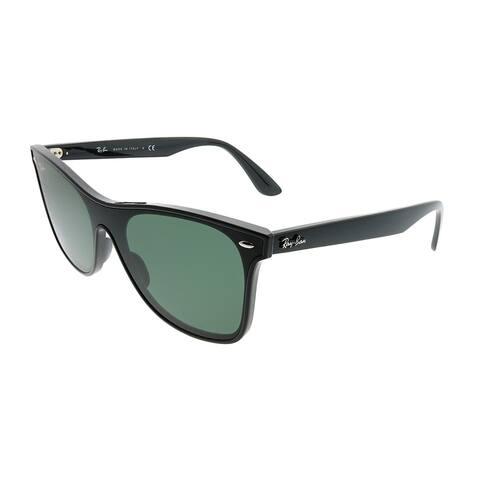 Ray-Ban Wayfarer RB 4440N Blaze Wayfarer 601/71 Unisex Black Frame Green Lens Sunglasses