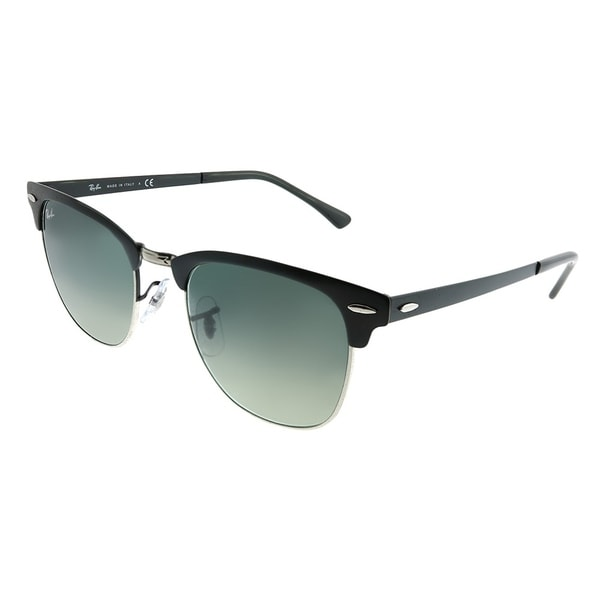 22d3749f39 Ray-Ban Clubmaster RB 3716 Clubmaster Metal 911871 Unisex Matte Black on  Silver Frame Grey