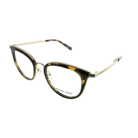 Michael Kors Round MK 3026 Aruba 3333 Woman Lite Gold Frame Eyeglasses