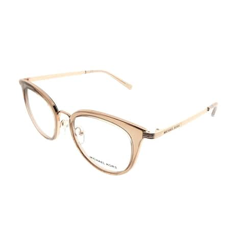 Michael Kors Round MK 3026 Aruba 3501 Woman Rose Gold Frame Eyeglasses