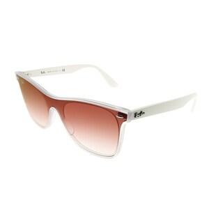 Ray-Ban Wayfarer RB 4440N Blaze Wayfarer 6357V0 Unisex Matte Trasparent Frame Red Gradient Mirror Lens Sunglasses