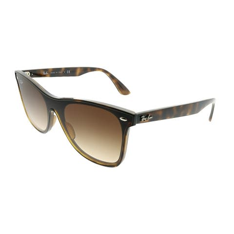 Ray-Ban Wayfarer RB 4440N Blaze Wayfarer 710/13 Unisex Light Havana Frame Brown Gradient Lens Sunglasses