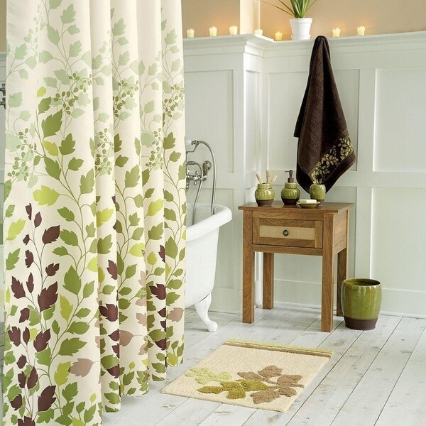 Shop Tulip Tree Green Leaves Shower Curtain - Free Shipping Today ...