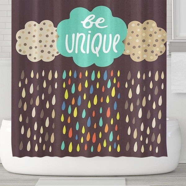 Shop Colorful Rain And Cloud Shower Curtain With Hooks
