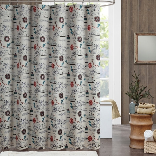 Regatta Vintage Sailing Ocean Mildew Resistant Shower Curtain