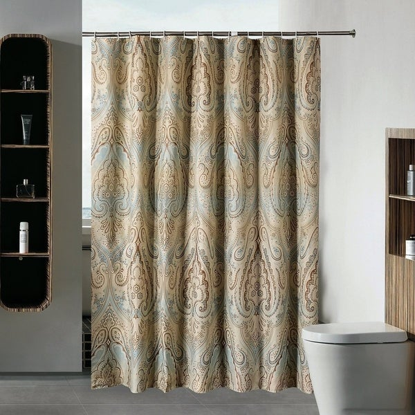 Unique Damask Paisley Pattern Shower Curtain