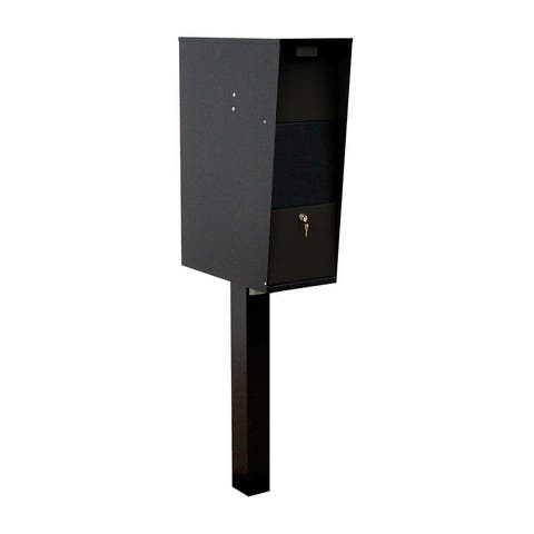 QualArc The Vacation Mailbox with Post - Black