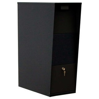 QualArc The Vacation Locking Mailbox Only - Black