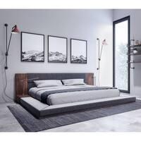 Nova Domus Jagger Modern Dark Grey & Walnut Bed