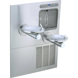 Elkay EZH2O Bottle Filling Station with Integral SwirlFlo Fountain, Refrigerated Filtered LZWS-LRPBM28K Stainless