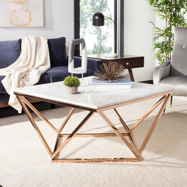Shop Safavieh Couture Topeka Marble Top Cocktail Table