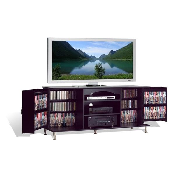 Superior Media Storage Console #15 - Broadway Black Large Flat Panel Plasma / LCD TV Console With Media Storage