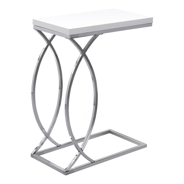 Accent Table - Chrome Metal