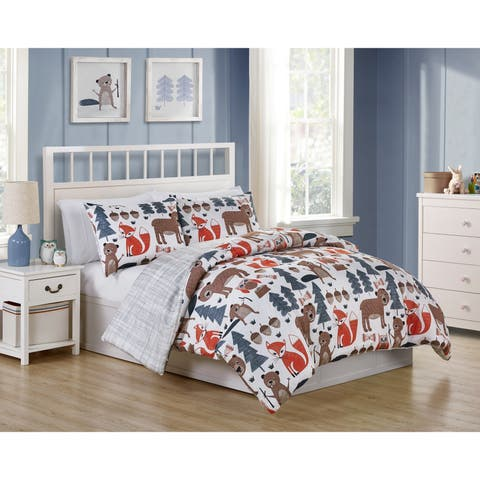 VCNY Home Little Campers Comforter Set - gray/Multi-color