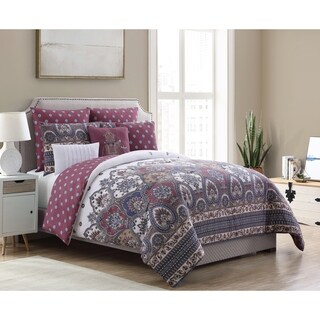 VCNY Home Adelia Comforter Set - Raspberry/Multi-color