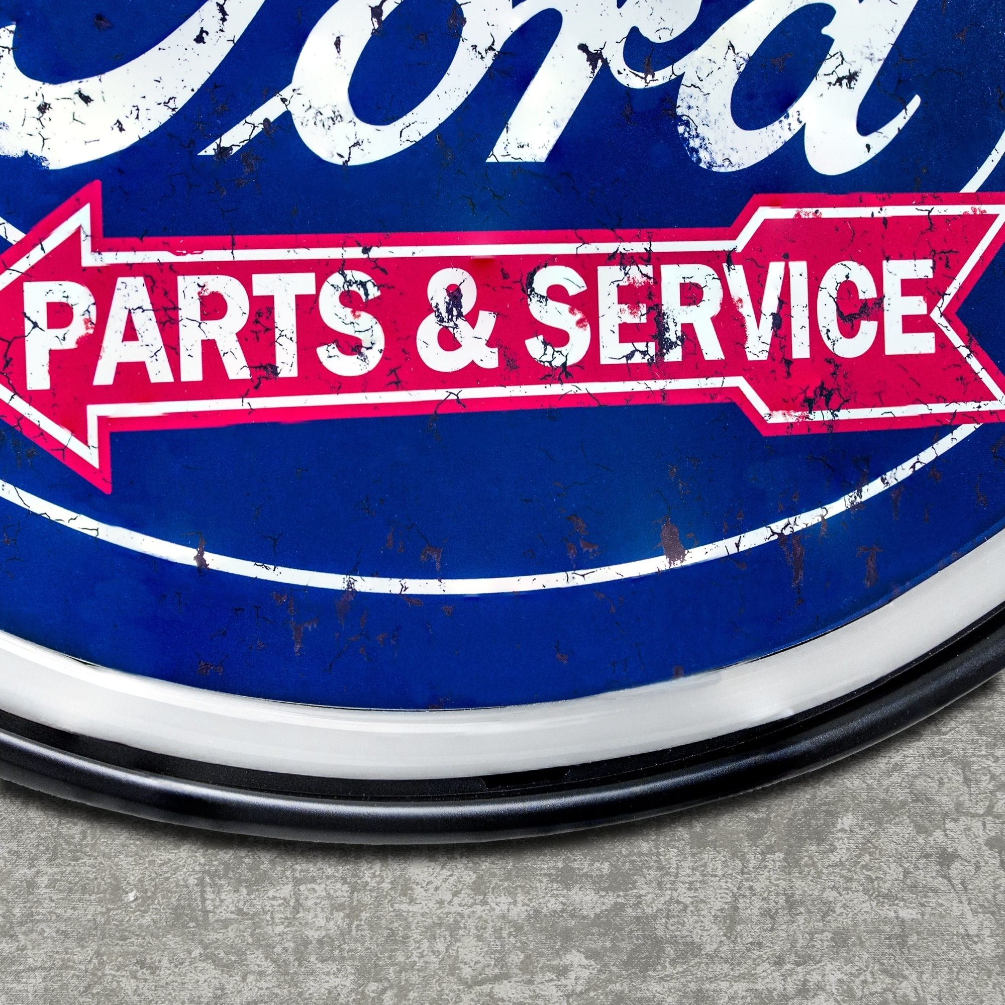 American Art Decor Vintage Ford Oval Shaped LED Light Up Sign Wall Decor  for Man Cave Bar Garage