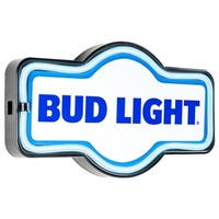 Vintage Bud Light Marquee Shaped LED Light Up Sign Wall Decor for Man Cave Bar Garage