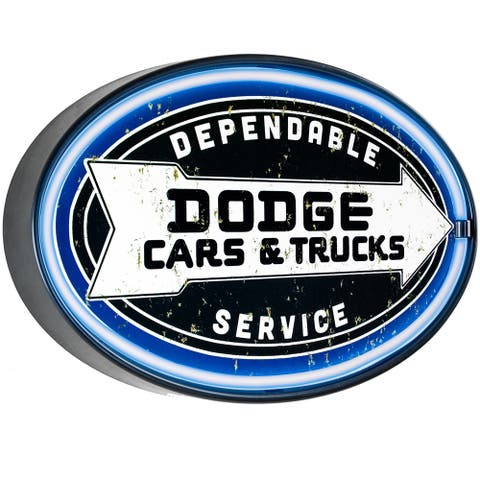 American Art Decor Dodge Cars & Trucks LED Sign Wall Decor for Man Cave Bar Garage