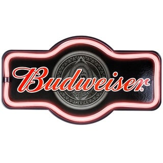 Millennium Art Vintage Budweiser Marquee Shaped LED Light Up Sign Wall Decor for Man Cave Bar Garage