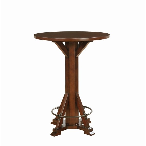 Shop Rustic Chestnut Round Bar Table