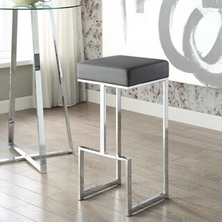 Contemporary Chrome Stool