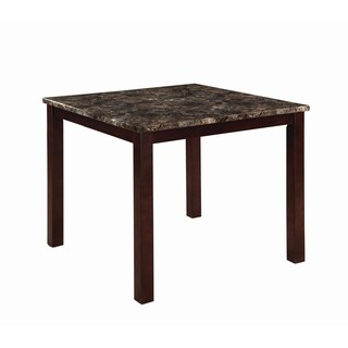 Ducey Dark Brown Faux Marble Counter Height Table