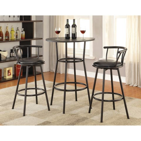 "Contemporary Black Bar Height Table - 41.50"" x 28"" - 41.50"" x 28"""