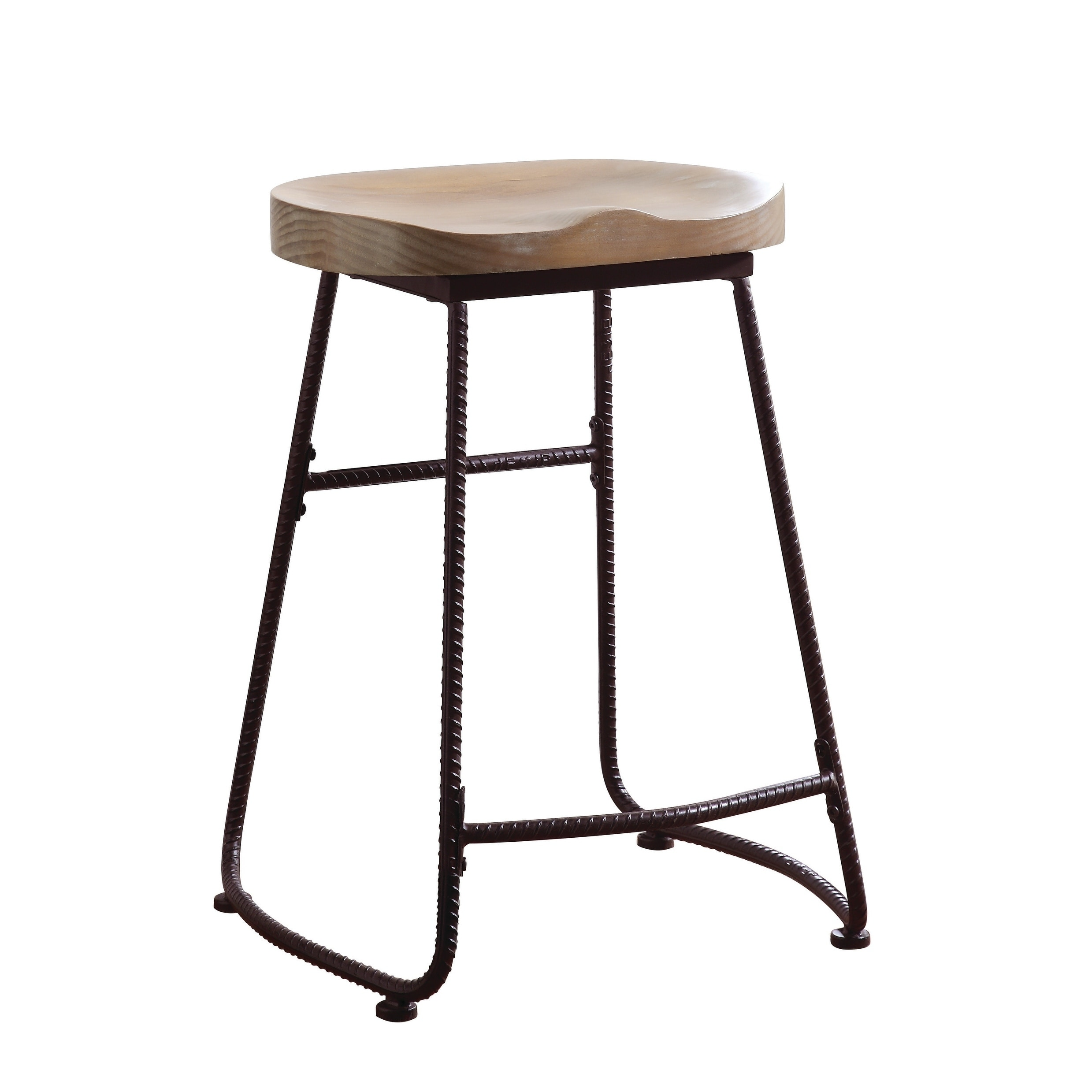 Industrial Driftwood Stool