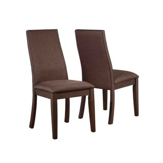 """Copper Grove Louviere Industrial Chocolate Dining Chair (Set of 2) - 19"""" x 23.35"""" x 38.50"""""""