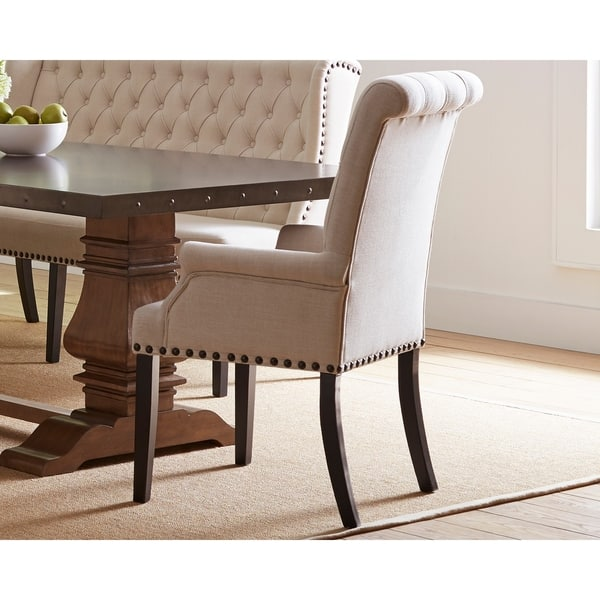 Parkins Cream Upholstered Dining Arm Chair 26 75 X