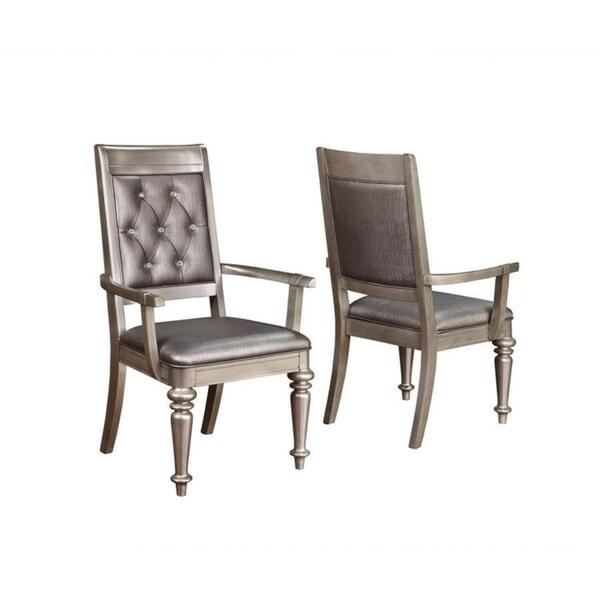 Daniela Chair: Shop Bling Game Hollywood Glam Metallic Platinum Armchair