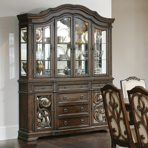 Shop Ilana Traditional Antique Java China Cabinet with ...