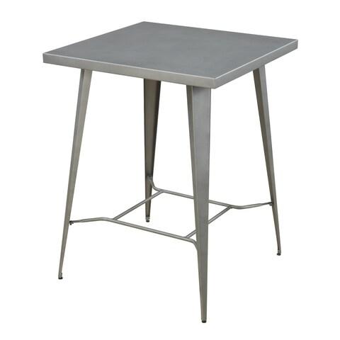 Industrial Gunmetal Bar-height Table