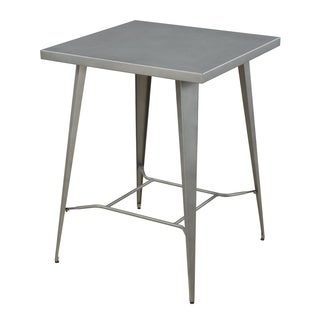 Industrial Gunmetal Bar-height Table