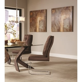 Nessa Contemporary Brown Upholstered Dining Chair