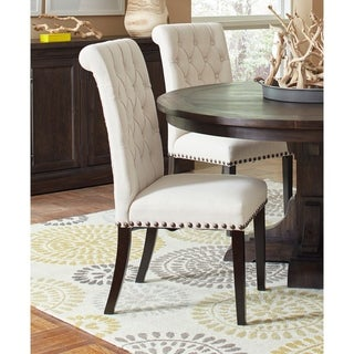 """Weber Traditional Smokey Black Upholstered Side Chair (Set of 2) - 19.50"""" x 26.25"""" x 41.50"""""""